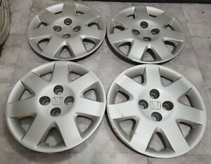 "Set of 4 OEM 2001-2005 Honda Civic EX 15"" Hubcaps Wheel Covers pn 44733-S5D-A110"