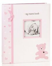 New Pearhead L'Il Peach Girls Pink Bear Baby Memory Book
