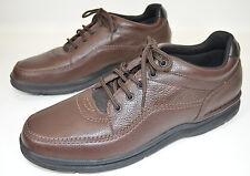 Rockport World Tour Classic Walking Shoes Brown Leather K70884 Men's 14M EUC