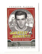 11/12 ITG FOREVER RIVALS MAURICE RICHARD GREATEST MOMENTS INSERT