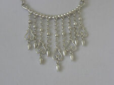 Jessica Simpson Lady Chic Silver Tone Frontal Necklace