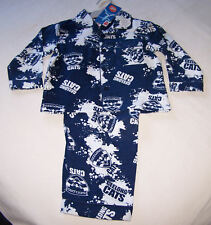 Geelong Cats AFL Boys Navy Flannel Pyjama Set Size 16 New
