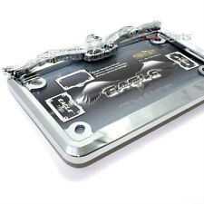 Chrome Eagle License Plate Tag Frame for Motorcycle/Scooter/Chopper/Bike