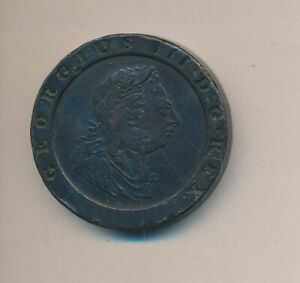 1797 Great Britain 2 Pence Copper Cartwheel Coin- Nice Coin - #AA