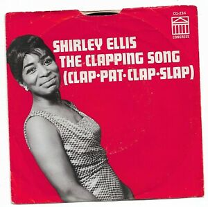 SHIRLEY ELLIS - THE CLAPPING SONG - CONGRESS -  VG++/EX.  + PICTURE SLEEVE.