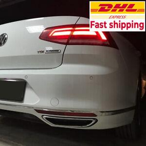 For Volkswagen Passat B8 2015 2019 2 Pcs High Quality Chrome Car Rear Diffuser