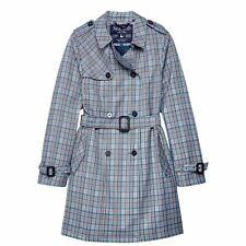 Jack Wills Womens Mitford Check Trench Mac Coat Epaulette New