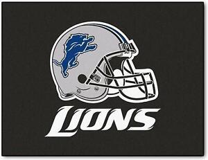 "Fanmats NFL Detroit Lions All-Star Mat Area Rug Large 34"" x 43"" Del. 2-4 Days"