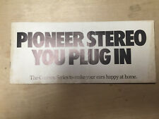 Vtg Pioneer Brochure ~Car Audio Systems Centrex Stereo Equipment