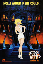 COOL WORLD (1992) ORIGINAL ADVANCE MOVIE POSTER  -  ROLLED