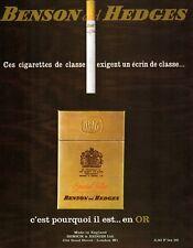 ▬► Publicité BENSON AND HEDGES Cigarette Tabac Tobacco Original French Print ad