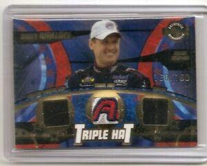 2004 Wheels American Thunder Rusty Wallace Triple Hat Memorabilia Card 160/160