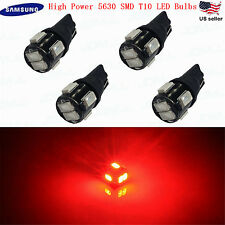 JDM ASTAR 4x T10 Red 194 168 Samsung 5630 SMD LED Car Marker Brake Lights Bulbs