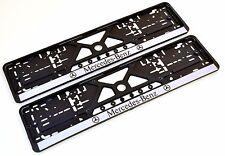 MERCEDES 1 X Premium Bianco in Acciaio Inox Numero targa Surround cornice titolare