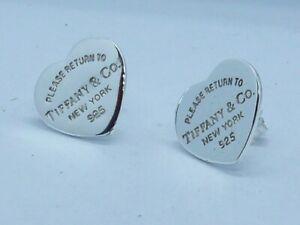 Tiffany & Co. Orecchini cuore big Argento 925 Sterling Silver Heart earrings