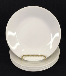 """Corelle WInter Frost White Set Of 7 Bread Or Dessert Plates 6.75"""" Made In USA"""