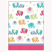 "PATCHWORK ELEPHANTS STARS 66"" x 72"" LINED CURTAINS MULTI GIRLS KIDS"