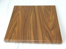 LINDNER LIGHT BROWN WOOD EFFECT 18 RING STAMP ALBUM, VERY GOOD CONDITION