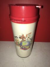 Vintage Universal Studios Travel Mug Coffee Cup Insulated Scooby Doo Flintstones