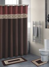 Empire Home 15-Piece Brown & Burgundy Bathroom Set Rugs - Free Shipping!