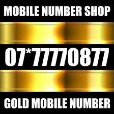 GOLD UNIQUE MEMORABLE RARE DIAMOND VIP MOBILE PHONE NUMBER SIM CARD 7777777