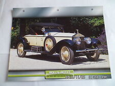 CARTE FICHE VOITURES D'EXCEPTION ROLLS ROYCE 40/50 HP SILVER GHOST