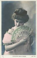 Jeanne Tiphaine Hand Colored Real Photo Postcard rppc - French Operatic Soprano