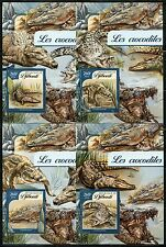 DJIBOUTI  2017 CROCODILES  SET OF FOUR SOUVENIR SHEETS  MINT