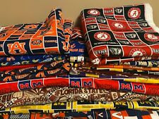 NCAA COTTON Fabric 1/4 yard piece, 9 inches X 42 inches ---Choose your team