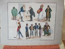 Vintage Print,WHAT BEAU,Popular Songs,Henry Alken,1825