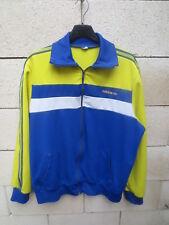 Veste ADIDAS vintage 80's Trefoil jacket tracktop jacke FC SOCHAUX giacca L / XL