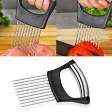 Food Slice Assistant Onion Slicer Cutter Fish Meat Vegetable Holder Tool N 5L1T