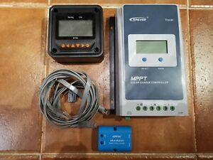 MPPT Solar Controller 30A Tracer 3210AN 12/24v with MT50 & eBox-BLE-01 Bluetooth