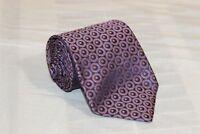 TED BAKER Purple Geometric Classic Woven 100% Silk Tie