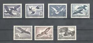 (870711) Birds, Airmail, Austria - very light hinged -