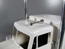 New Chrome Brass Airhorns Set for Tamiya RC 1/14 GlobeLiner Scania Semi Tractor