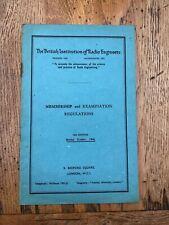 More details for british institution of radio engineers membership & exam  regulation 1946