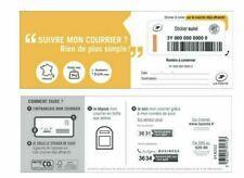 3 Etiquettes Suivi envoi national stickers nationaux lettre suivie La Poste