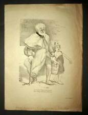 Probedruck auf Papier Japan Bankett der Junge Dichter durch Willette 1893
