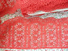Exclusive English Nottingham Cotton Cluny Lace RED - Vintage Pattern 0714