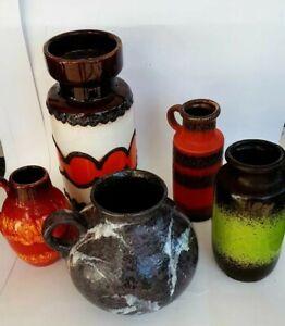 Vasen  Pottery  West Germany Scheurich Fat Lava - 5 Stück . 517 /30  Raritäten