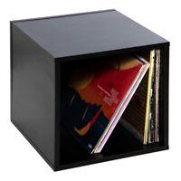 "Vinyl LP Record Box - 12"" Schallplatten Aufbewahrung Box ""Cube"" (110) Black"