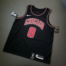 100% Authentic Zach LaVine Nike Bulls Statement Swingman Jersey Size 56 2XL Mens