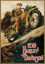Wall Calendar 2019 [12 pages] Harley Davidson Bike Moto Vintage Ads Poster M543