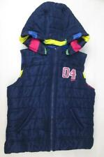 JUSTICE KIDS GIRLS REVERSIBLE NAVY BLUE OR STRIPED RAINBOW PUFFER VEST 14 NEW