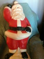 "VINTAGE 1978 CHRISTMAS EMPIRE 40"" DANCING SANTA BLOW MOLD W/LIGHT CORD"
