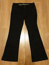 Ladies Black Bootcut Jeans With Diamante Detail from River Island Size 14 Long