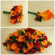 Autumn Artificial Wedding Flowers - Brides Bouquet - Bridesmaid - Buttonhole