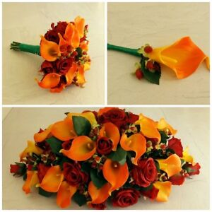 Autumn Artificial Wedding Flowers - Brides Bouquet - Bridesmaid - Buttonhole