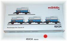 """Märklin 47525 Jeu de Wagon Citerne /"""" Solvay /"""" 4-teilig # Neuf Emballage"""